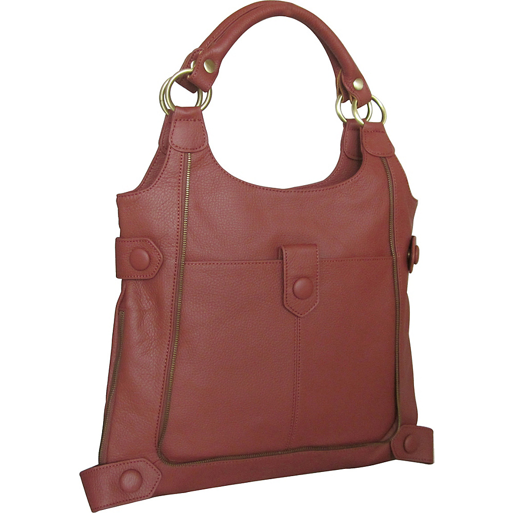 AmeriLeather Judelle Universal Shoulder Bag Rust - AmeriLeather Leather Handbags - Handbags, Leather Handbags