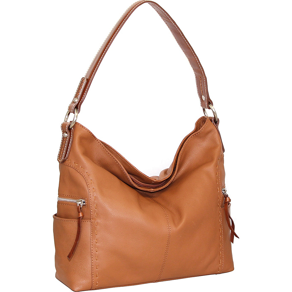 Nino Bossi Kyah Leather Hobo Cognac - Nino Bossi Leather Handbags - Handbags, Leather Handbags