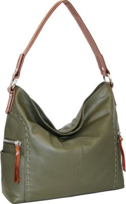 Nino Bossi Kyah Leather Hobo Green - Nino Bossi Leather Handbags