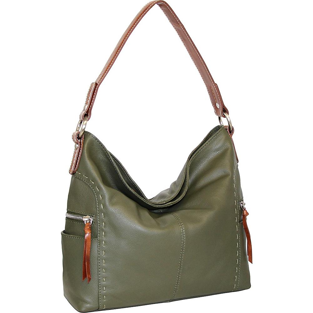 Nino Bossi Kyah Leather Hobo Green - Nino Bossi Leather Handbags - Handbags, Leather Handbags