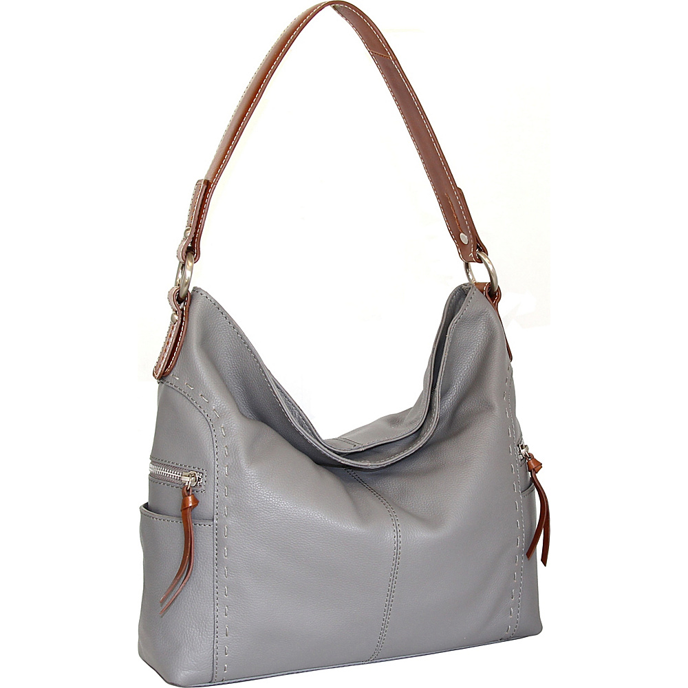 Nino Bossi Kyah Leather Hobo Stone - Nino Bossi Leather Handbags - Handbags, Leather Handbags