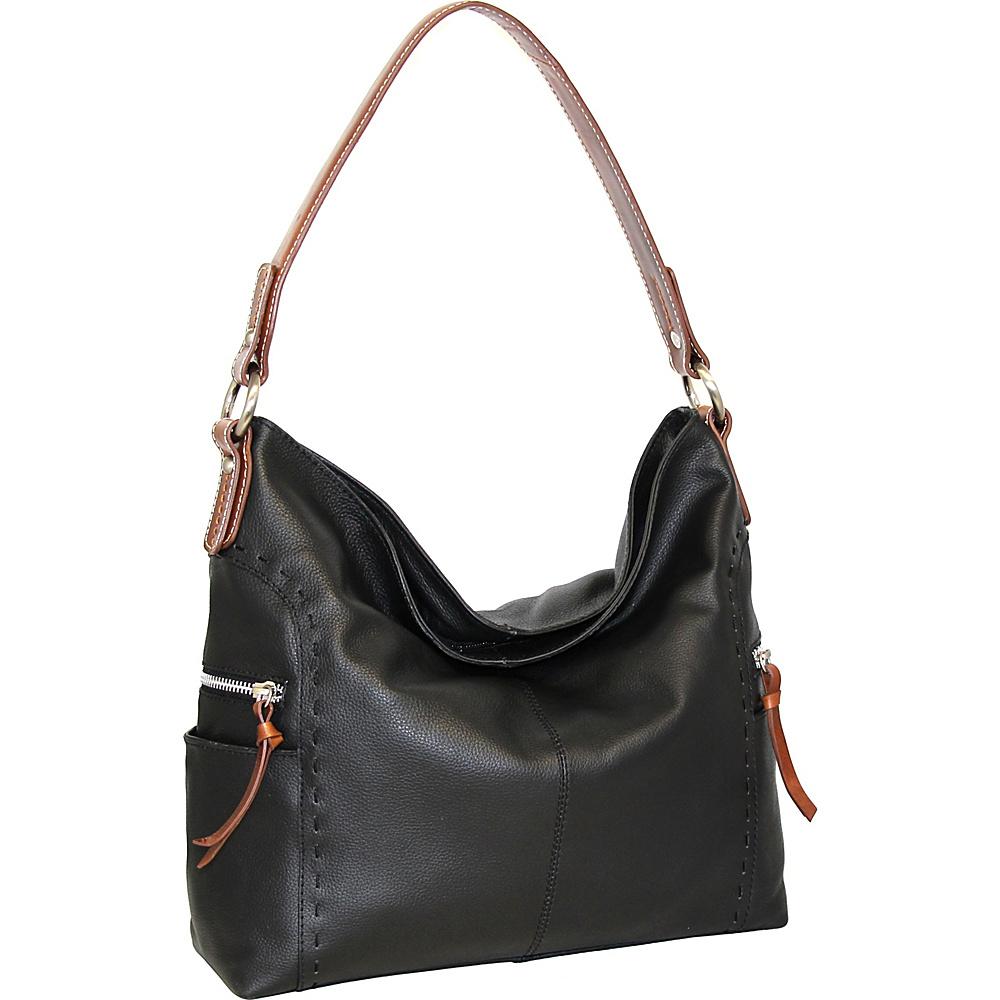 Nino Bossi Kyah Leather Hobo Black - Nino Bossi Leather Handbags - Handbags, Leather Handbags