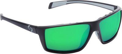 Native Eyewear Sidecar Sunglasses Matte Black with Polarized Green Reflex - Native Eyewear Eyewear