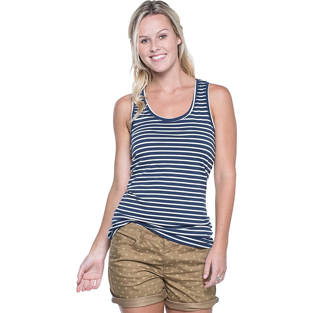 Toad & Co Lean Layering Tank M - Deep Navy Balanced Stripe - Toad & Co Womens Apparel - Apparel & Footwear, Women's Apparel