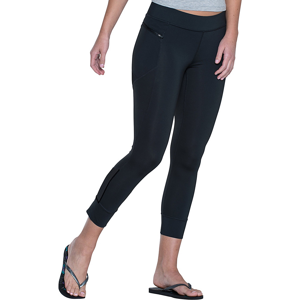 Toad & Co Aquaflex Capri Tight L - 22in - Black - Toad & Co Womens Apparel - Apparel & Footwear, Women's Apparel