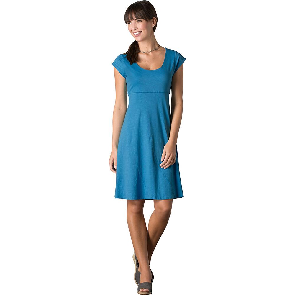 Toad & Co Nena Dress L - Seaport - Toad & Co Womens Apparel - Apparel & Footwear, Women's Apparel