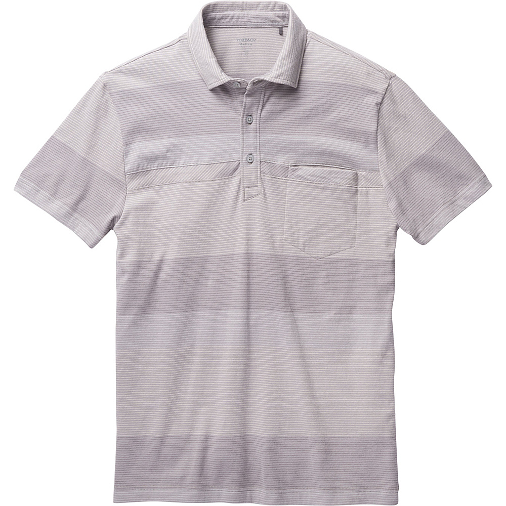 Toad & Co Jack Short Sleeve Polo XXL - Light Ash - Toad & Co Mens Apparel - Apparel & Footwear, Men's Apparel