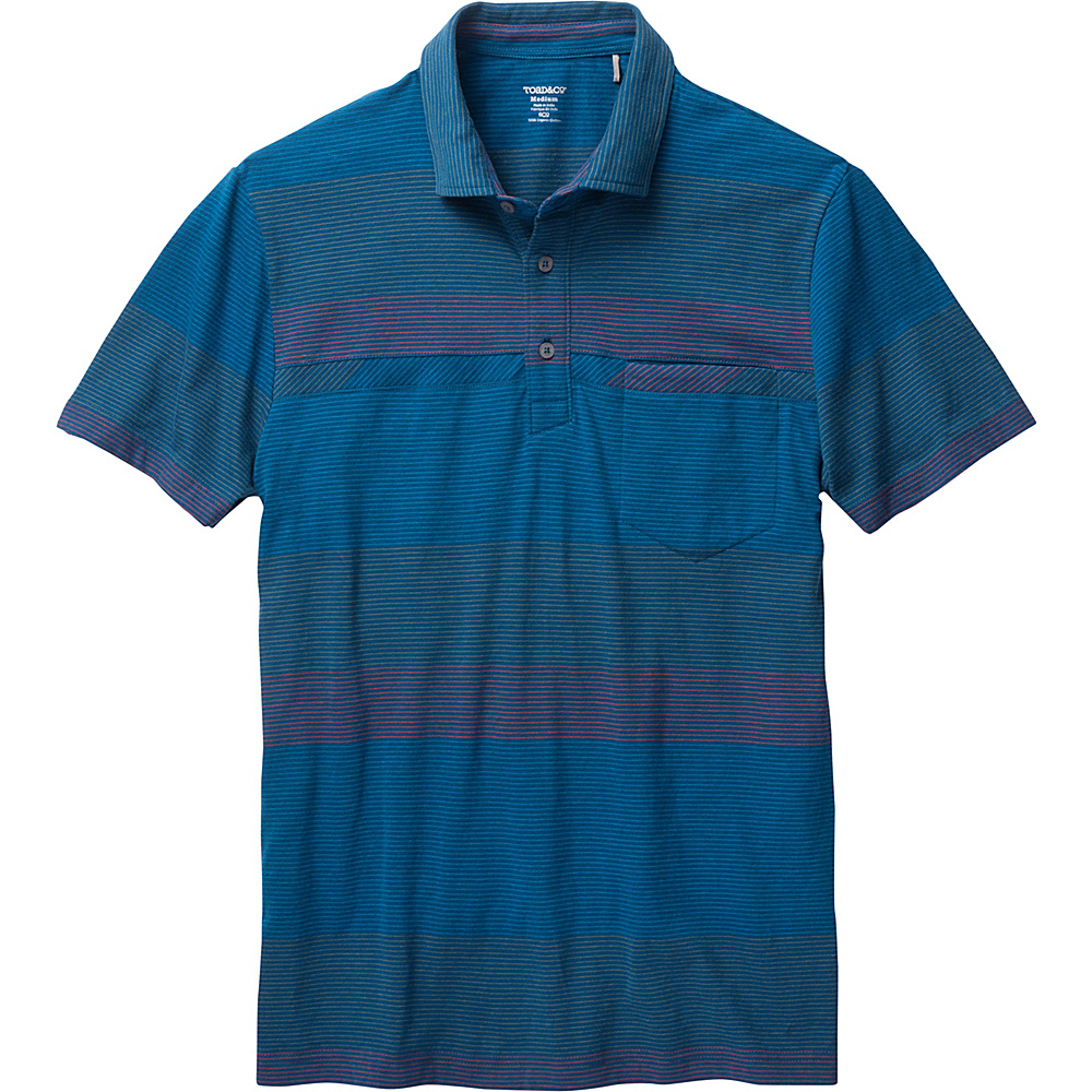Toad & Co Jack Short Sleeve Polo L - Blue Abyss - Toad & Co Mens Apparel - Apparel & Footwear, Men's Apparel