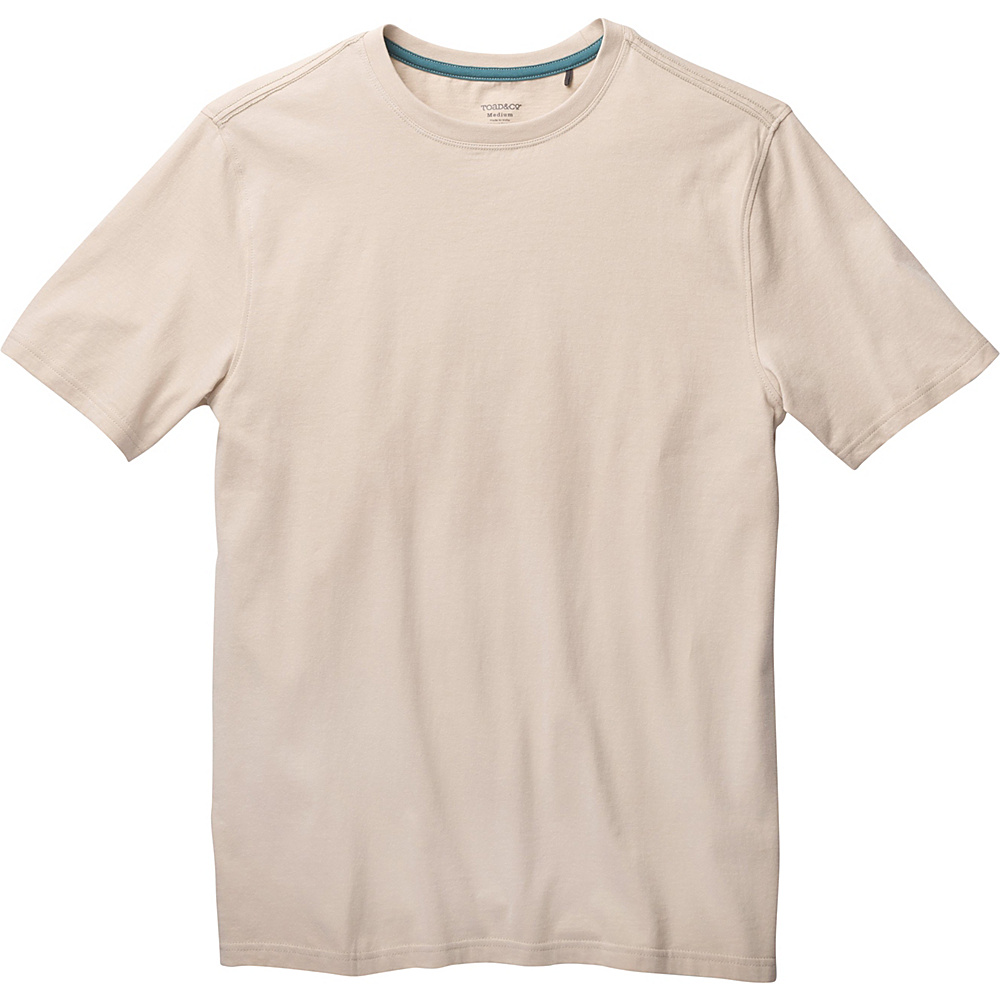 Toad & Co Peter Short Sleeve Tee S - Pelican - Toad & Co Mens Apparel - Apparel & Footwear, Men's Apparel