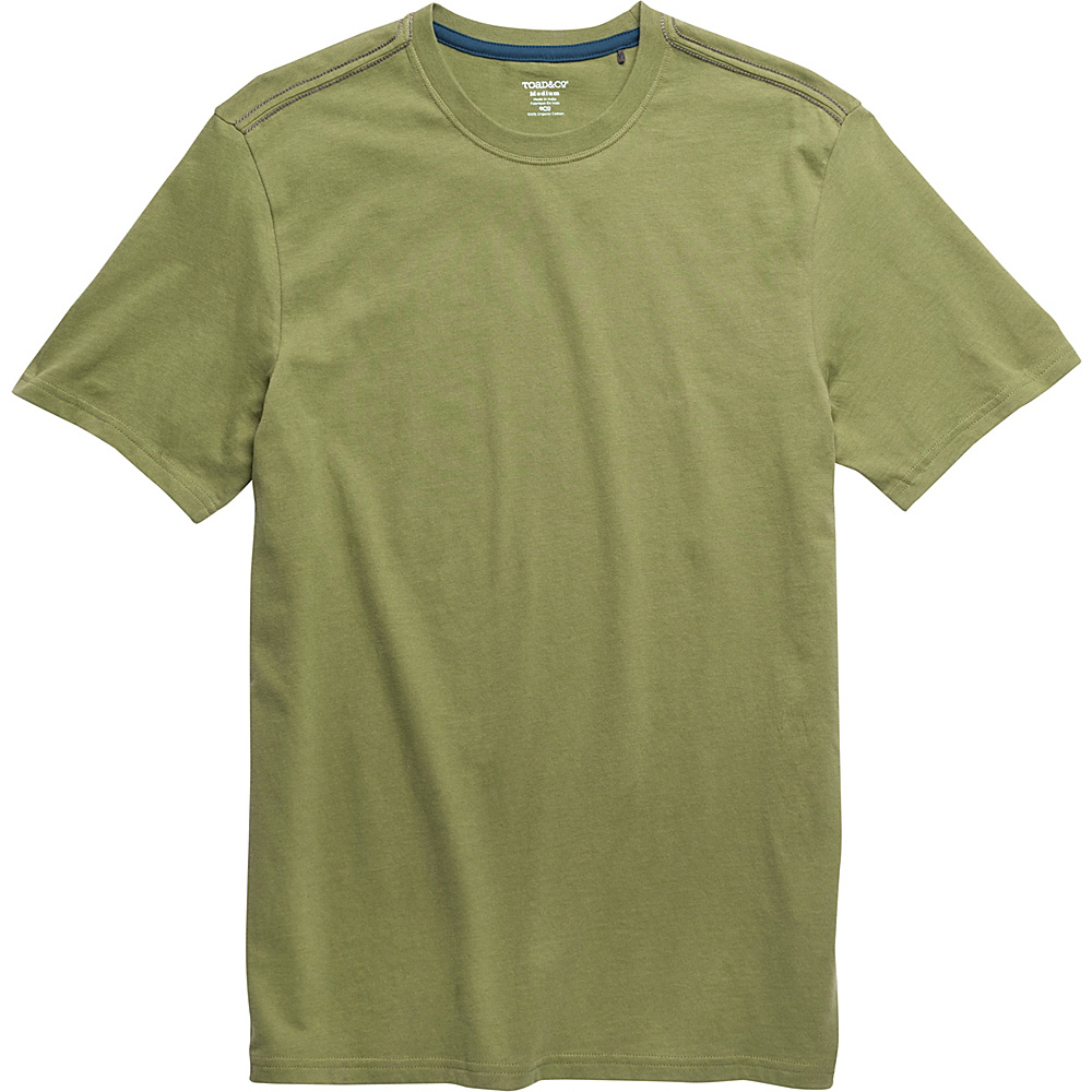 Toad & Co Peter Short Sleeve Tee XL - Juniper - Toad & Co Mens Apparel - Apparel & Footwear, Men's Apparel
