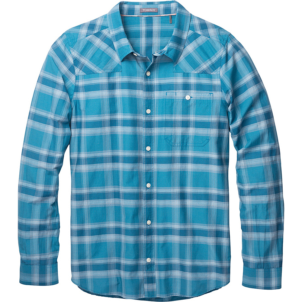 Toad & Co Wonderer Long Sleeve Shirt M - Seaport - Toad & Co Mens Apparel - Apparel & Footwear, Men's Apparel