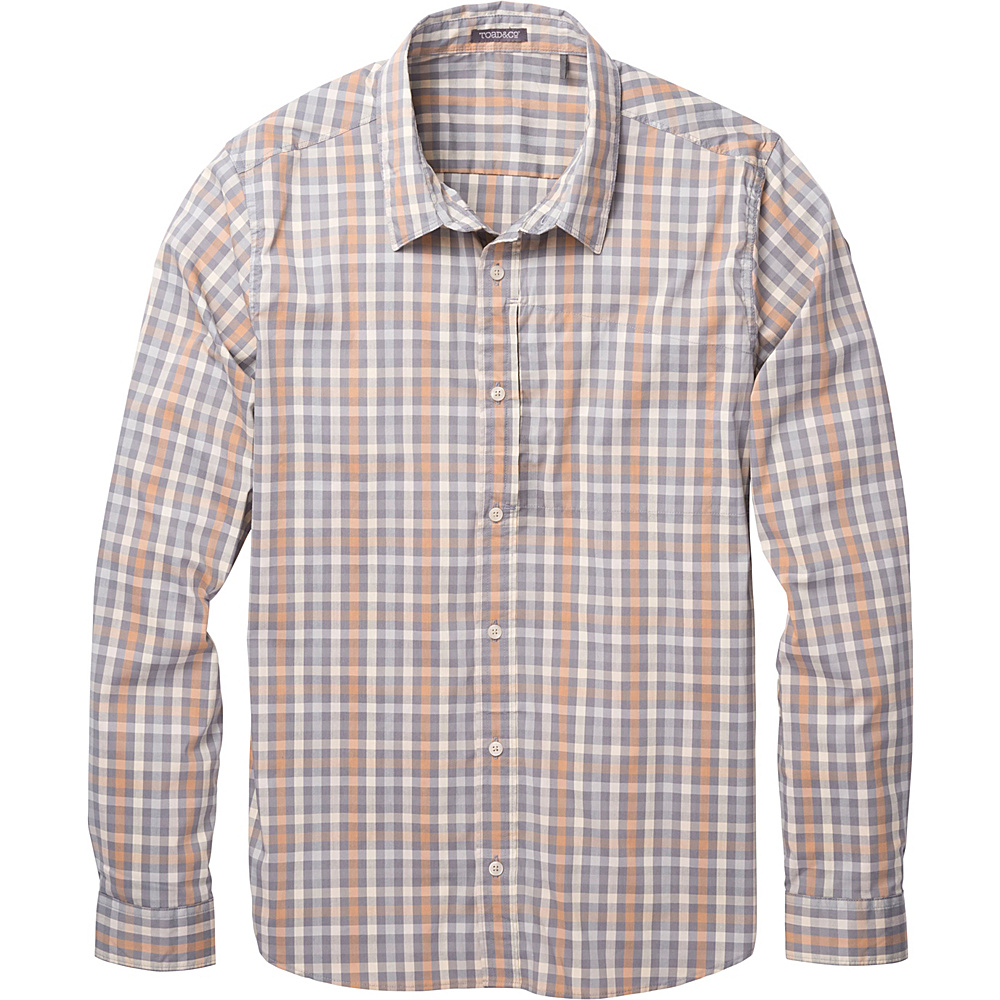Toad & Co Panorama Long Sleeve Shirt M - Smoke - Toad & Co Mens Apparel - Apparel & Footwear, Men's Apparel