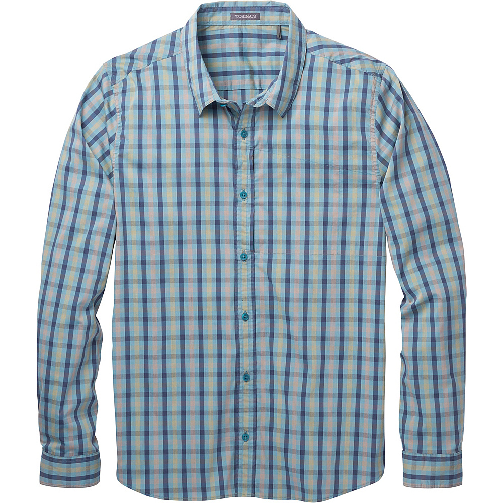 Toad & Co Panorama Long Sleeve Shirt S - Hydro - Toad & Co Mens Apparel - Apparel & Footwear, Men's Apparel