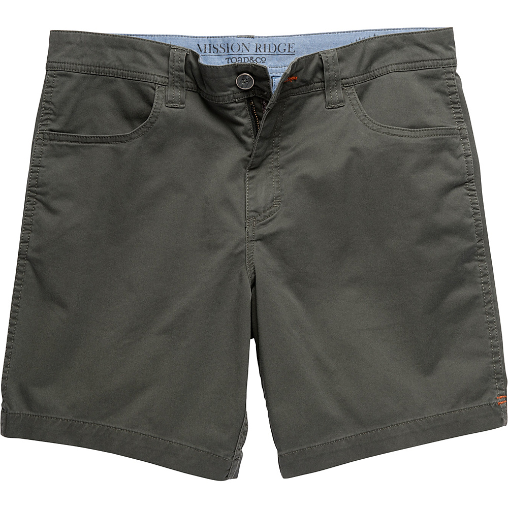 Toad & Co Mission Ridge Short 8 Inch 38 - 8in - Dark Graphite - Toad & Co Mens Apparel - Apparel & Footwear, Men's Apparel