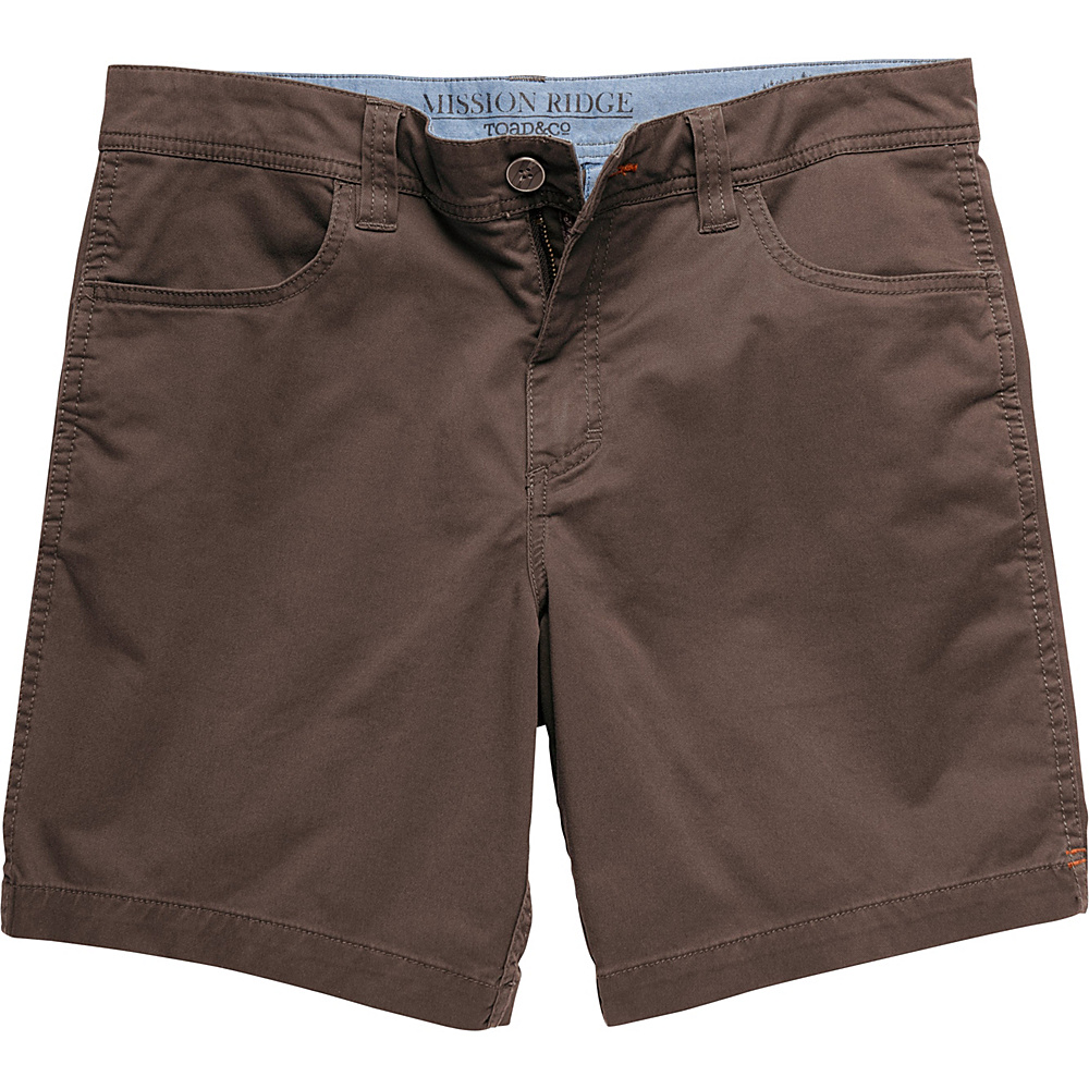 Toad & Co Mission Ridge Short 8 Inch 36 - 8in - Buffalo - Toad & Co Mens Apparel - Apparel & Footwear, Men's Apparel