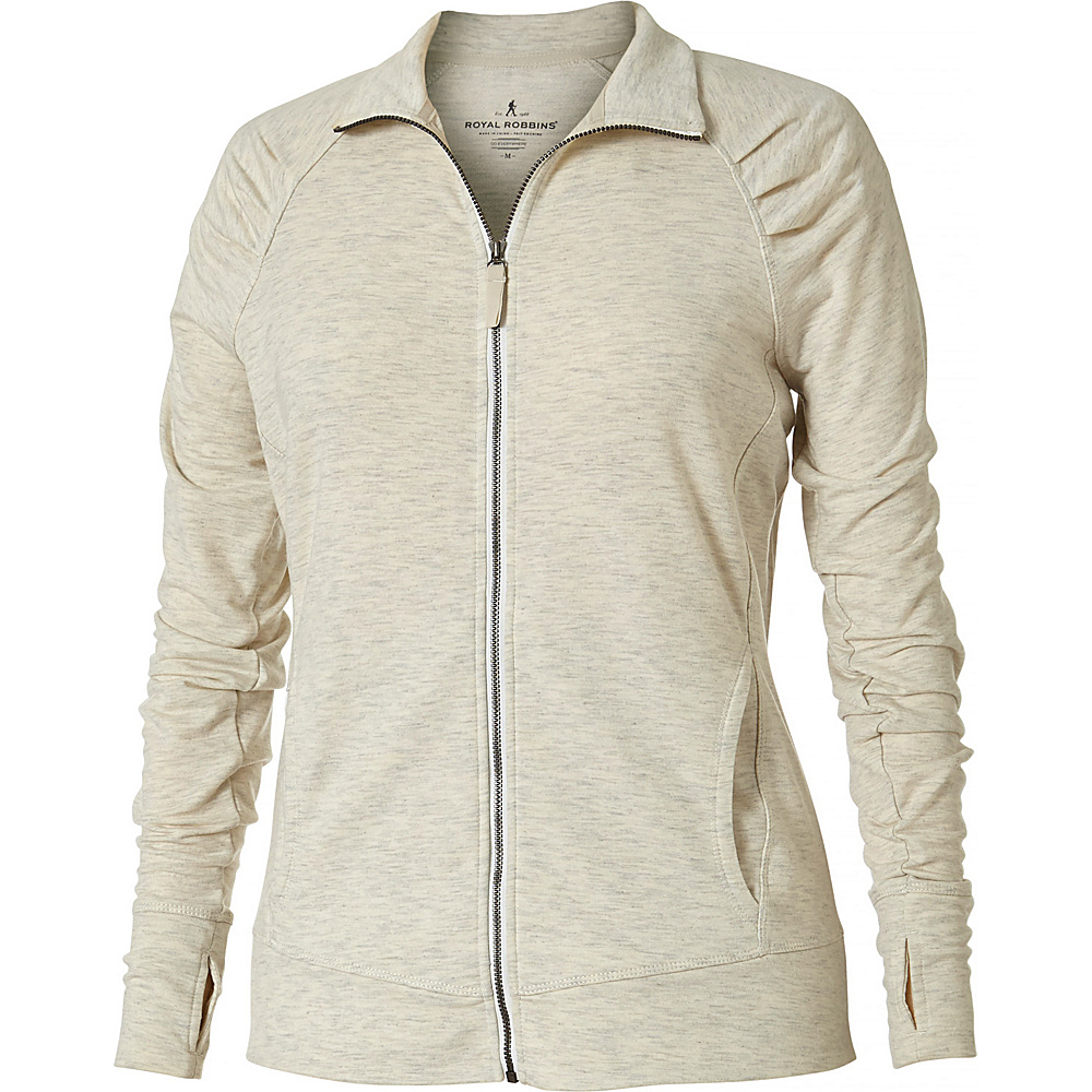 Royal Robbins Womens Channel Island Jacket M - Oatmeal Heather - Royal Robbins Womens Apparel - Apparel & Footwear, Women's Apparel