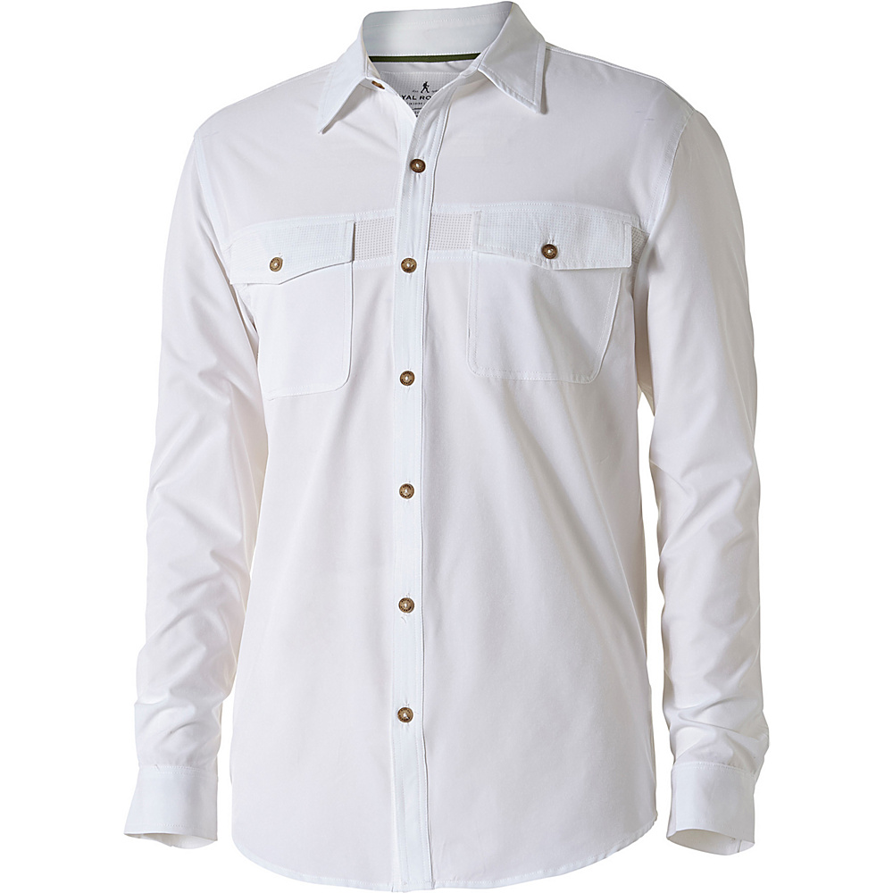 Royal Robbins Mens Diablo Long Sleeve Shirt S - White - Royal Robbins Mens Apparel - Apparel & Footwear, Men's Apparel