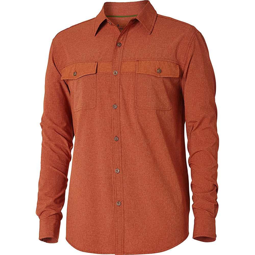 Royal Robbins Mens Diablo Long Sleeve Shirt S - Cordwood - Royal Robbins Mens Apparel - Apparel & Footwear, Men's Apparel