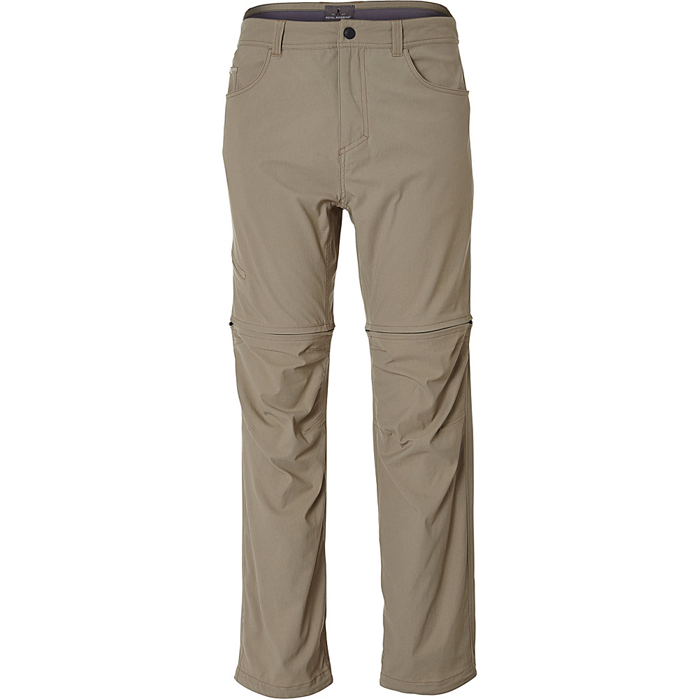 Royal Robbins Mens Alpine Road Convertible 42 - 32in - Khaki - Royal Robbins Mens Apparel - Apparel & Footwear, Men's Apparel