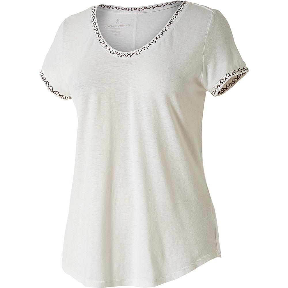 Royal Robbins Womens Flynn Short Sleeve Shirt XS - Creme - Royal Robbins Womens Apparel - Apparel & Footwear, Women's Apparel