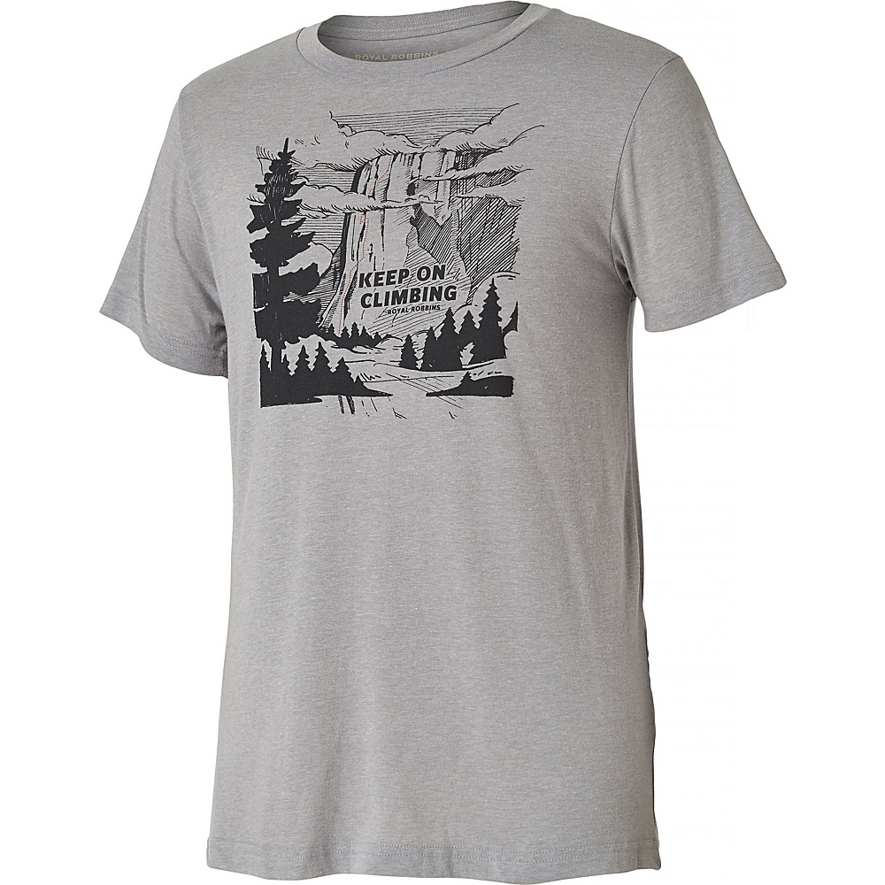 Royal Robbins Mens Keep On Climbing Tee XL - Charcoal - Royal Robbins Mens Apparel - Apparel & Footwear, Men's Apparel