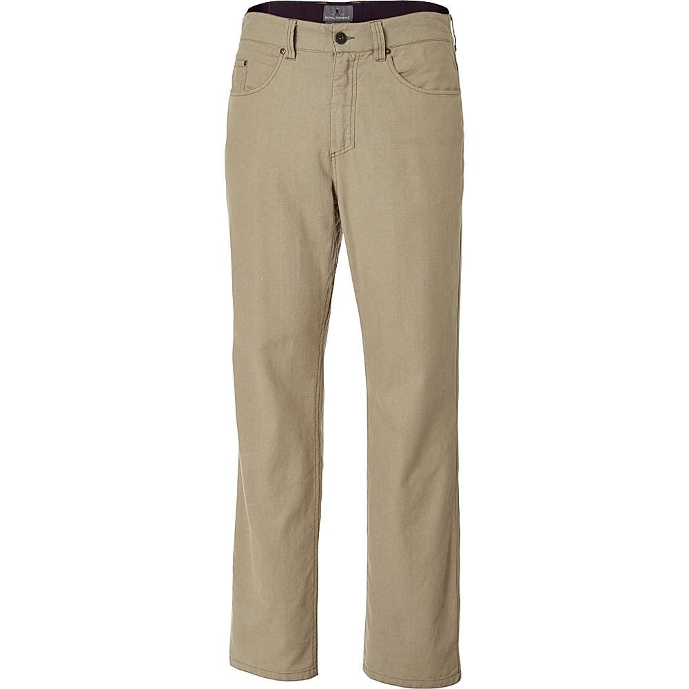Royal Robbins Mens Gulf Breeze 5-Pocket Pant 30 - 32in - Desert - Royal Robbins Mens Apparel - Apparel & Footwear, Men's Apparel
