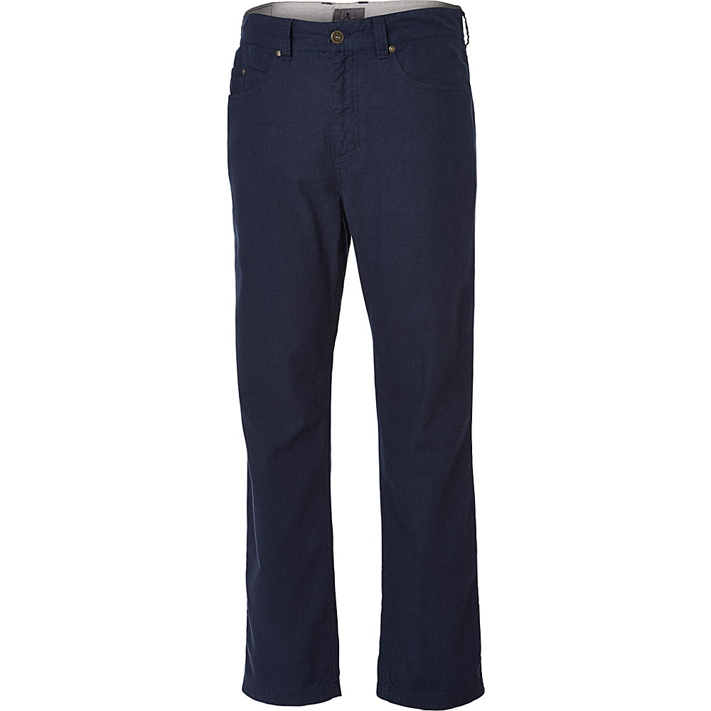 Royal Robbins Mens Gulf Breeze 5-Pocket Pant 34 - 32in - Eclipse - Royal Robbins Mens Apparel - Apparel & Footwear, Men's Apparel