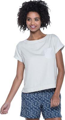 Toad & Co Wayfair Short Sleeve Shirt S - Pelican - Toad & Co Women's Apparel