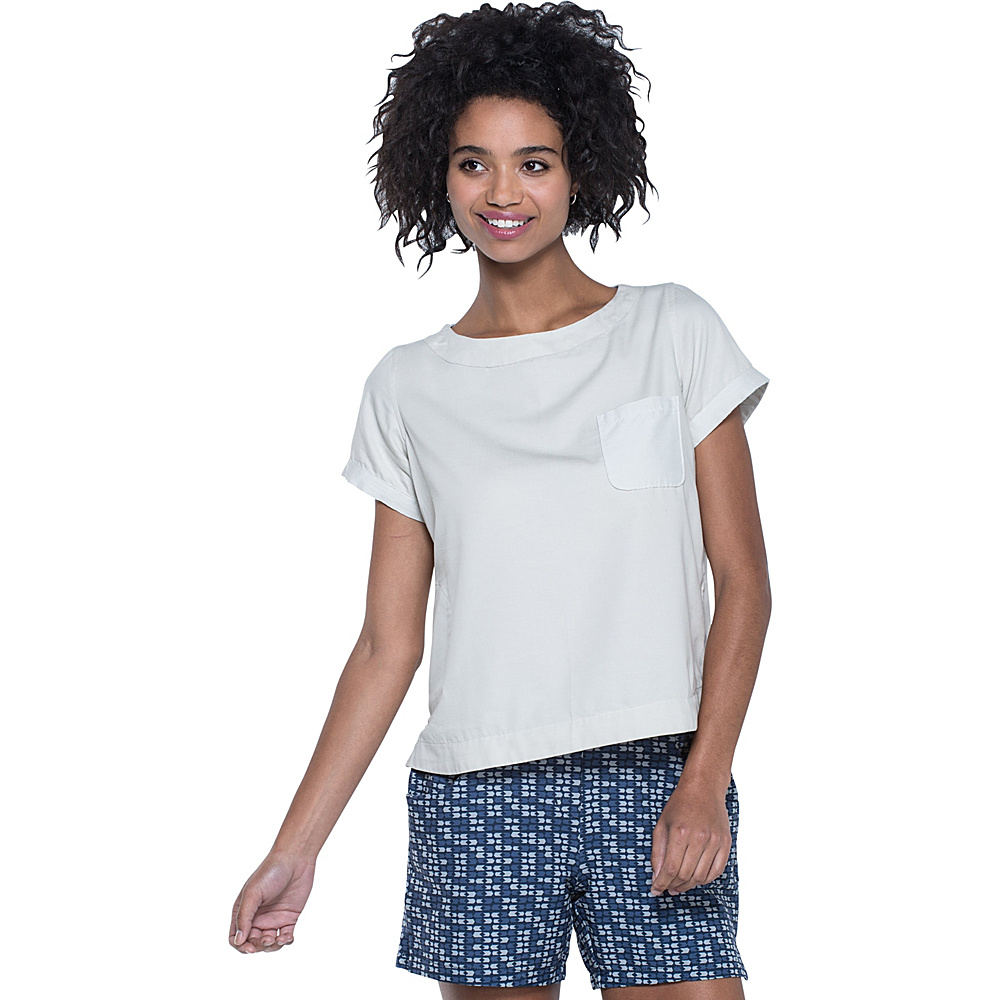 Toad & Co Wayfair Short Sleeve Shirt M - Pelican - Toad & Co Womens Apparel - Apparel & Footwear, Women's Apparel