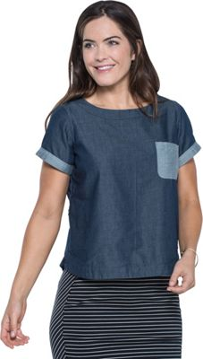 Toad & Co Wayfair Short Sleeve Shirt L - Nightsky - Toad & Co Women's Apparel