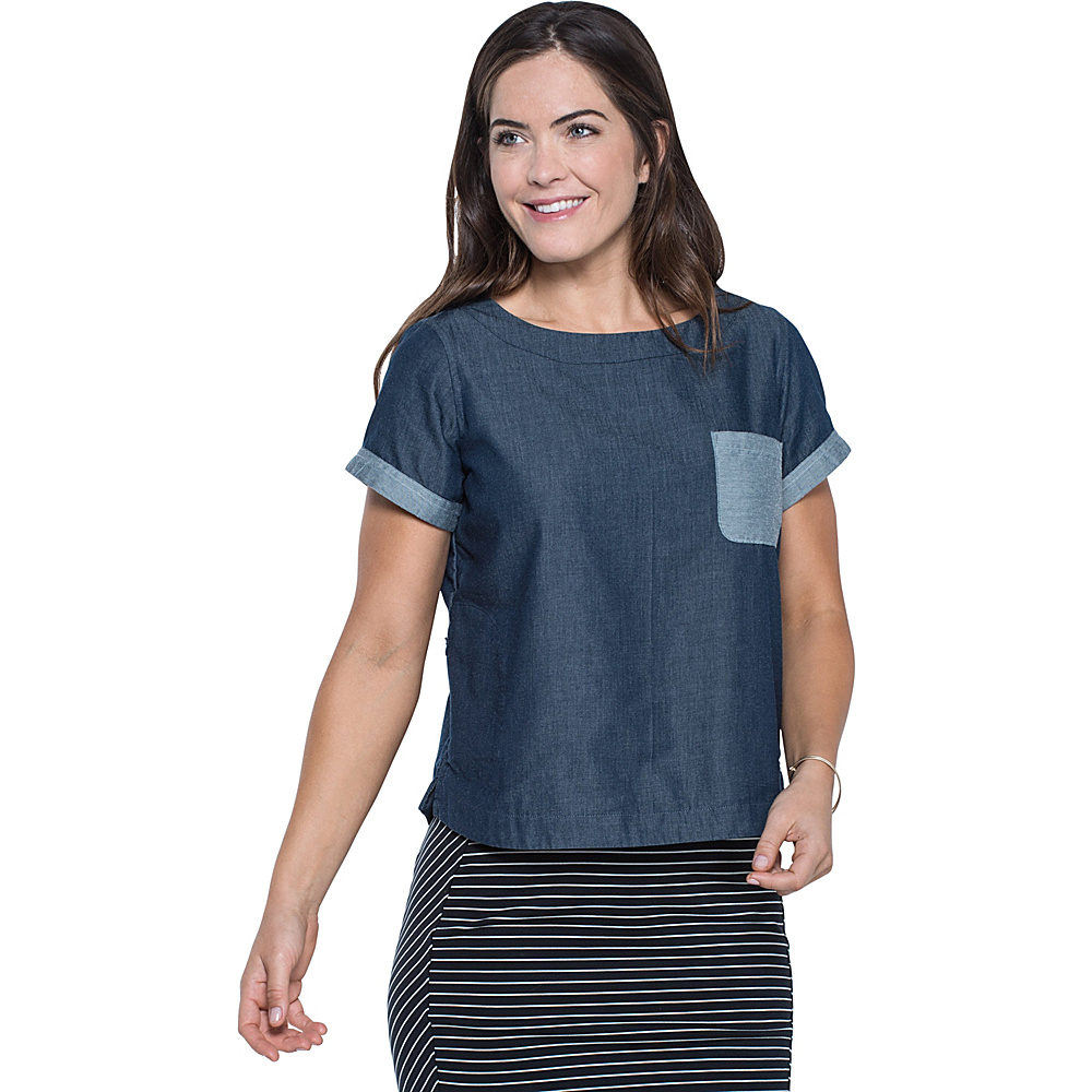 Toad & Co Wayfair Short Sleeve Shirt M - Nightsky - Toad & Co Womens Apparel - Apparel & Footwear, Women's Apparel