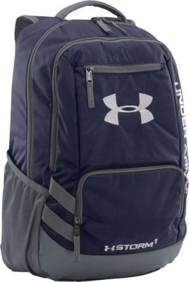 Under Armour Team Hustle Backpack Midnight Navy/ Graphite/ Silver - Under Armour School & Day Hiking Backpacks