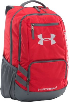Under Armour Team Hustle Backpack Red/ Graphite/ Silver - Under Armour School & Day Hiking Backpacks