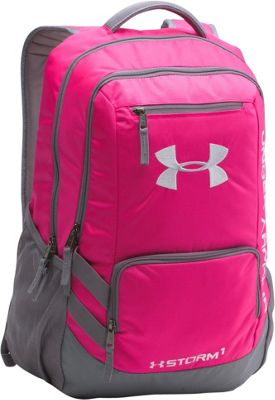 Under Armour Team Hustle Backpack Tropic Pink/Graphite/White - Under Armour School & Day Hiking Backpacks
