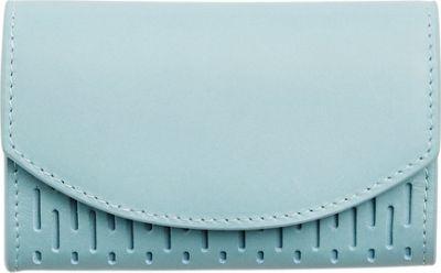 Skagen Leather Flap Card Case Sky Blue - Skagen Women's Wallets