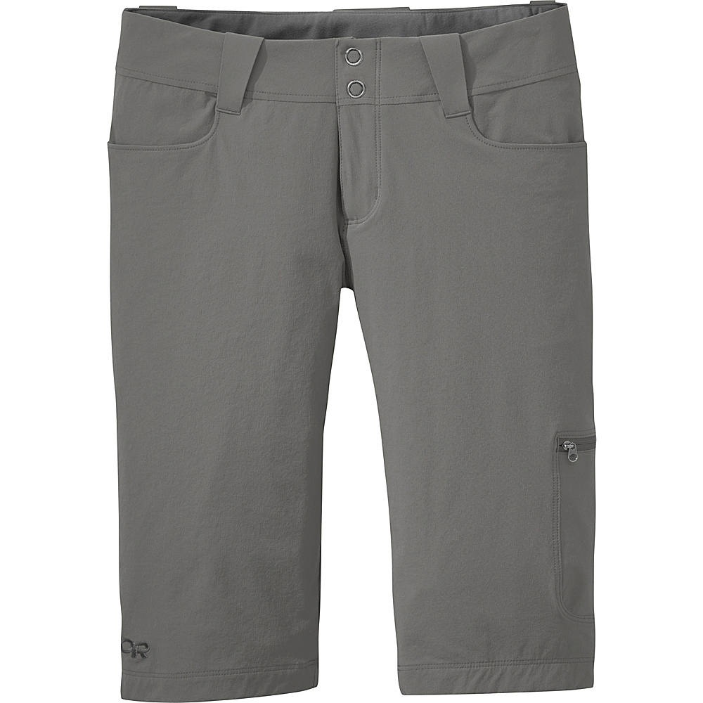 Outdoor Research Womens Ferrosi Shorts 12 - Pewter - Outdoor Research Womens Apparel - Apparel & Footwear, Women's Apparel