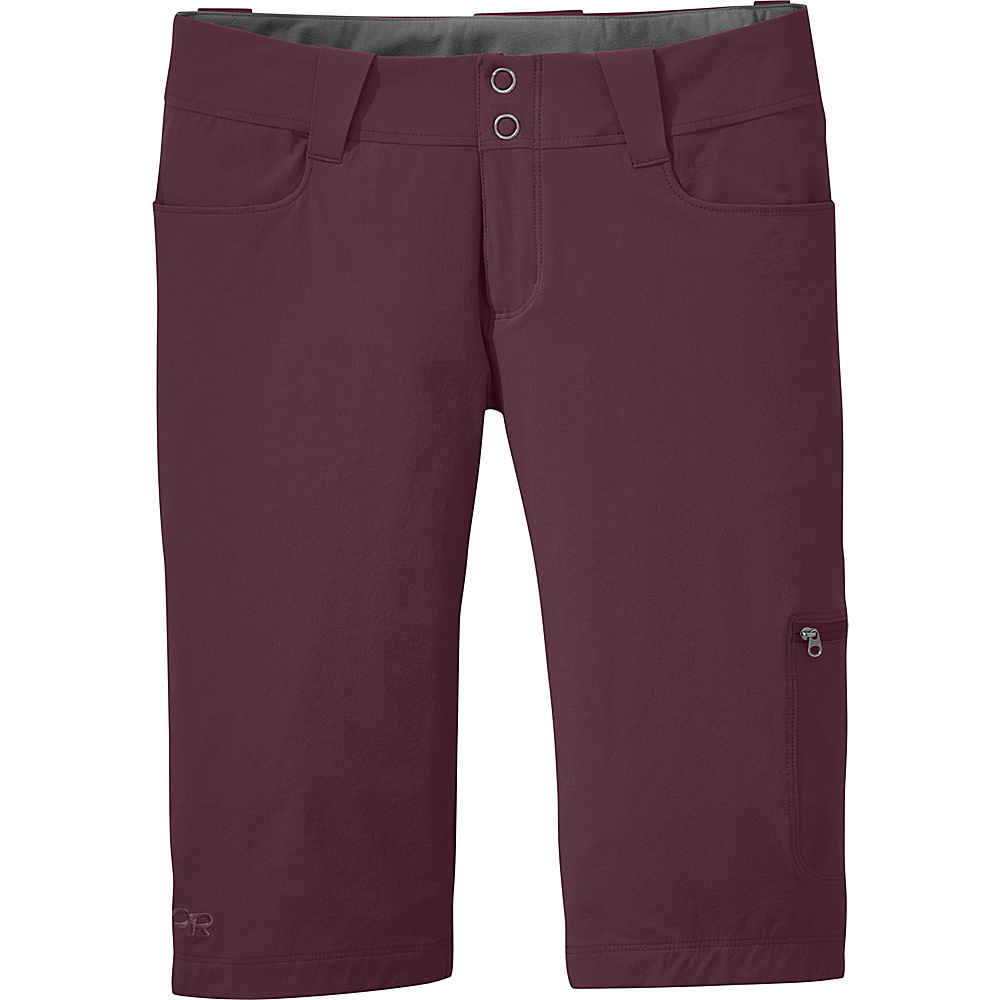 Outdoor Research Womens Ferrosi Shorts 12 - Pinot - Outdoor Research Womens Apparel - Apparel & Footwear, Women's Apparel