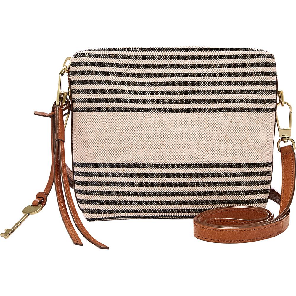 Fossil Maya Crossbody Black Stripe - Fossil Fabric Handbags - Handbags, Fabric Handbags
