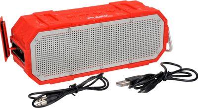 TRAKK Bang Waterproof Rugged Wireless Bluetooth Speaker Red - TRAKK Headphones & Speakers
