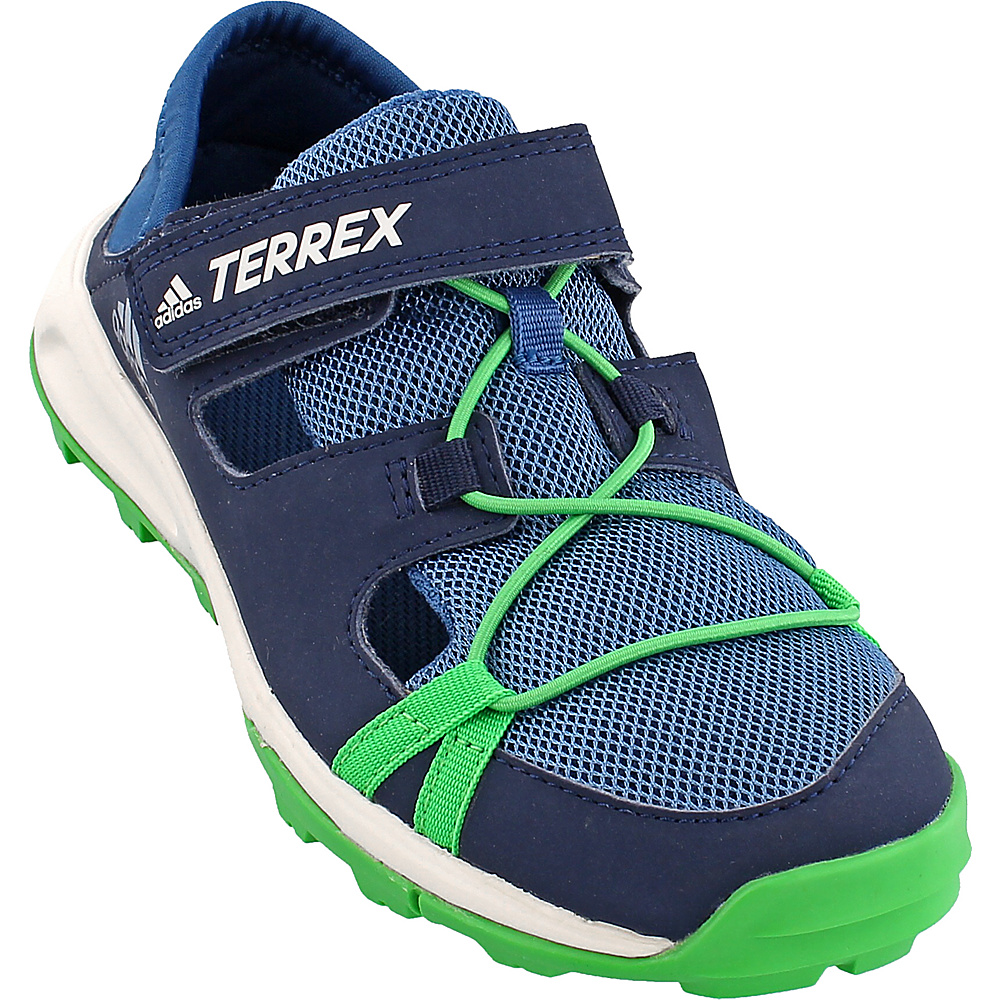 adidas outdoor Kids Terrex Tivid Shandal CF Shoe 12.5 (US Kids) - Core Blue/Col. Navy/Energy Green - adidas outdoor Mens Footwear - Apparel & Footwear, Men's Footwear