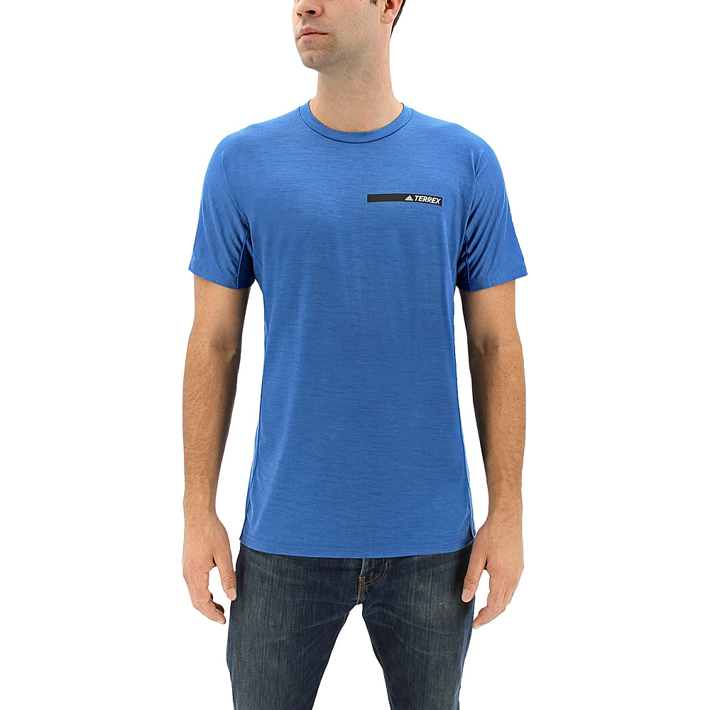 adidas outdoor Mens Agravic Tee M - Core Blue - adidas outdoor Mens Apparel - Apparel & Footwear, Men's Apparel