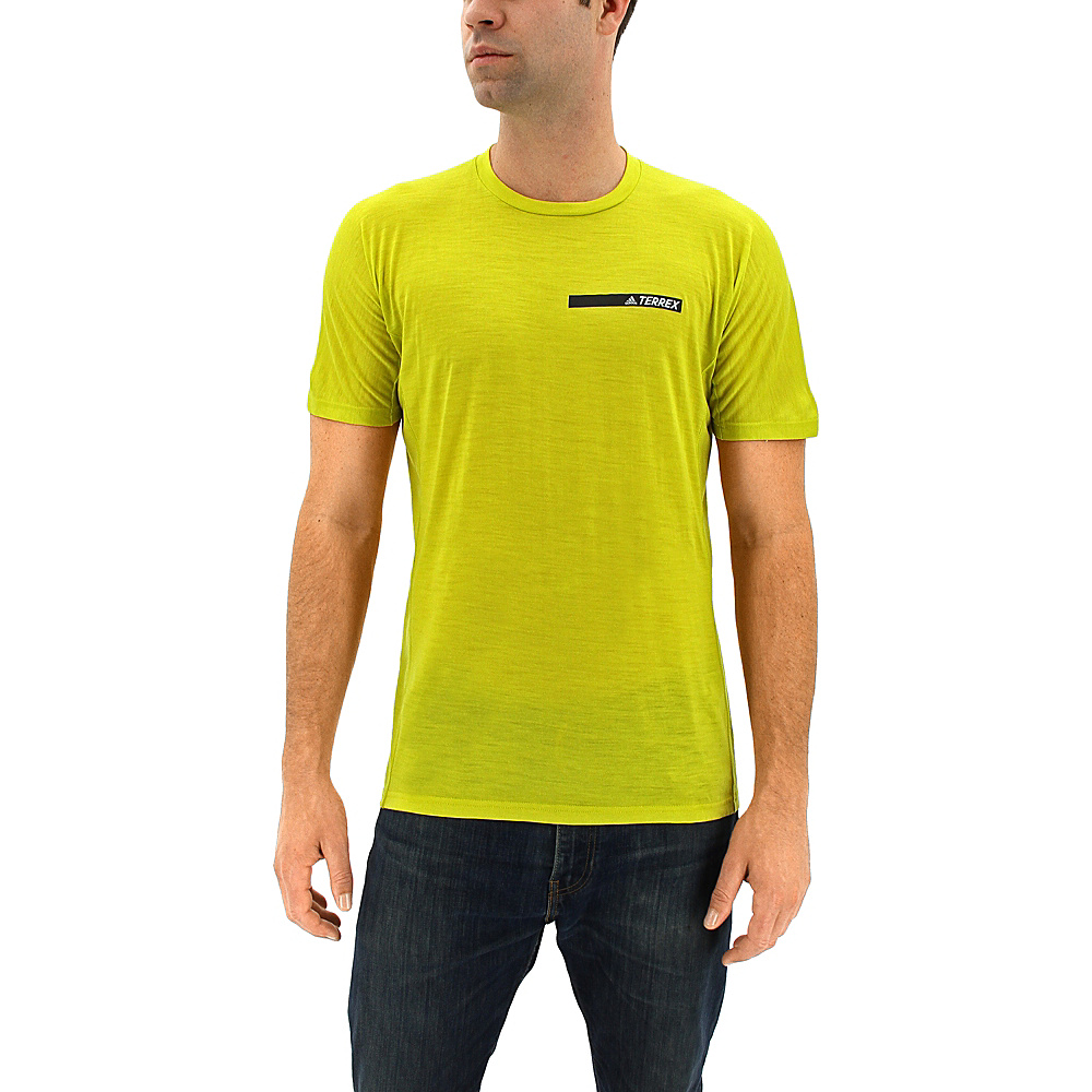 adidas outdoor Mens Agravic Tee L - Unity Lime - adidas outdoor Mens Apparel - Apparel & Footwear, Men's Apparel