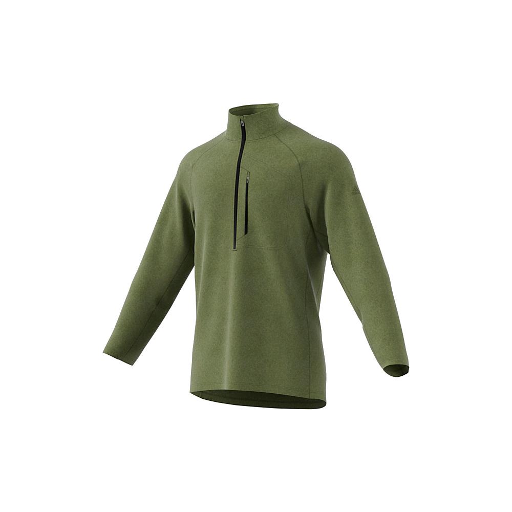 adidas outdoor Mens Reachout 1/2 Zip Pullover S - Craft Green - adidas outdoor Mens Apparel - Apparel & Footwear, Men's Apparel