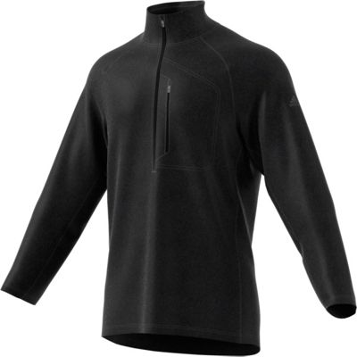 adidas outdoor Mens Reachout 1/2 Zip Pullover XL - Black/Black - adidas outdoor Men's Apparel
