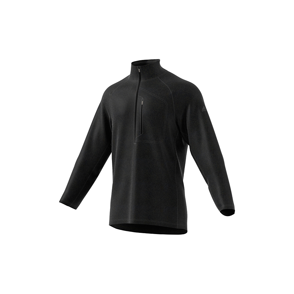 adidas outdoor Mens Reachout 1/2 Zip Pullover L - Black/Black - adidas outdoor Mens Apparel - Apparel & Footwear, Men's Apparel