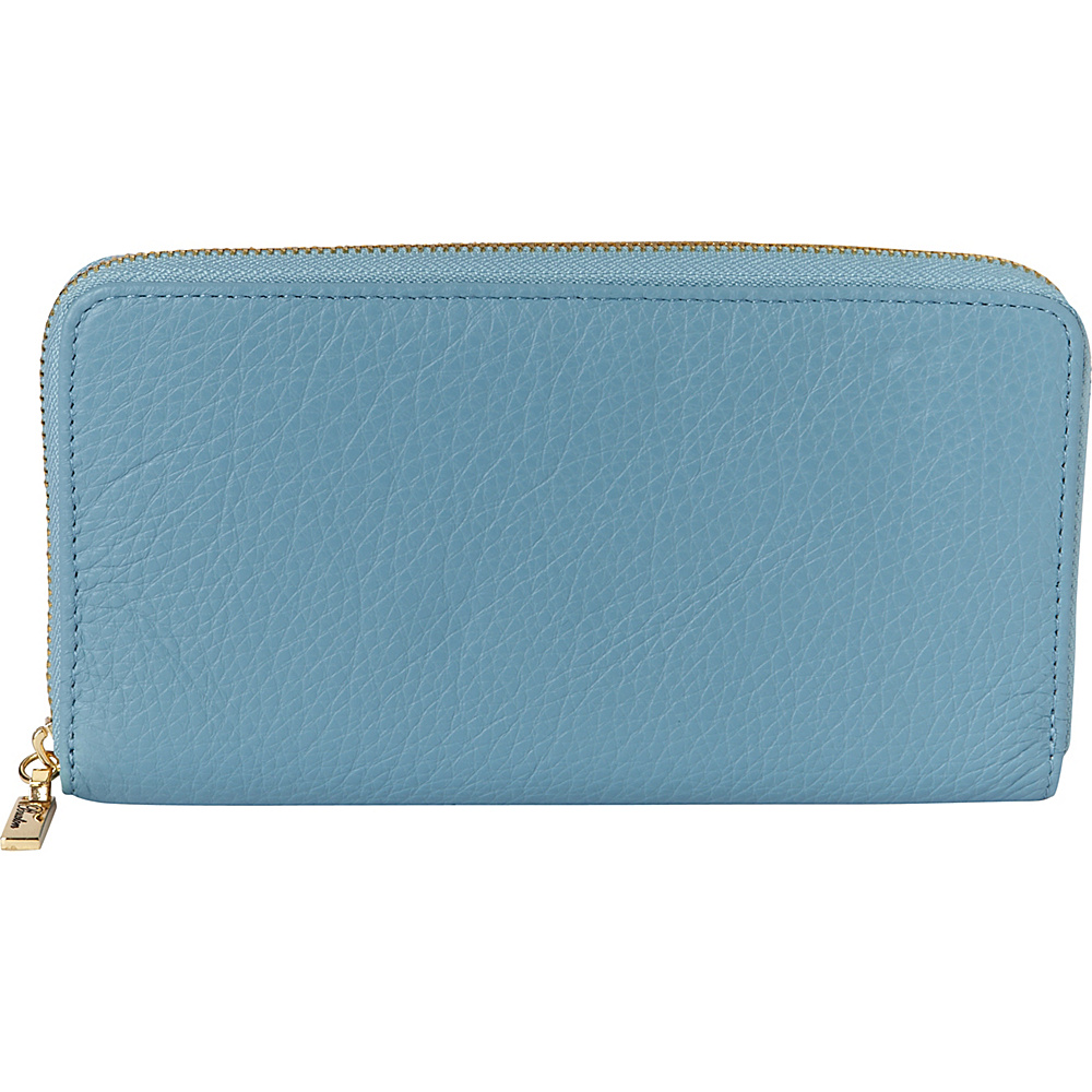 Buxton Florence Slim Single Zip Ocean Blue - Buxton Womens Wallets - Women's SLG, Women's Wallets