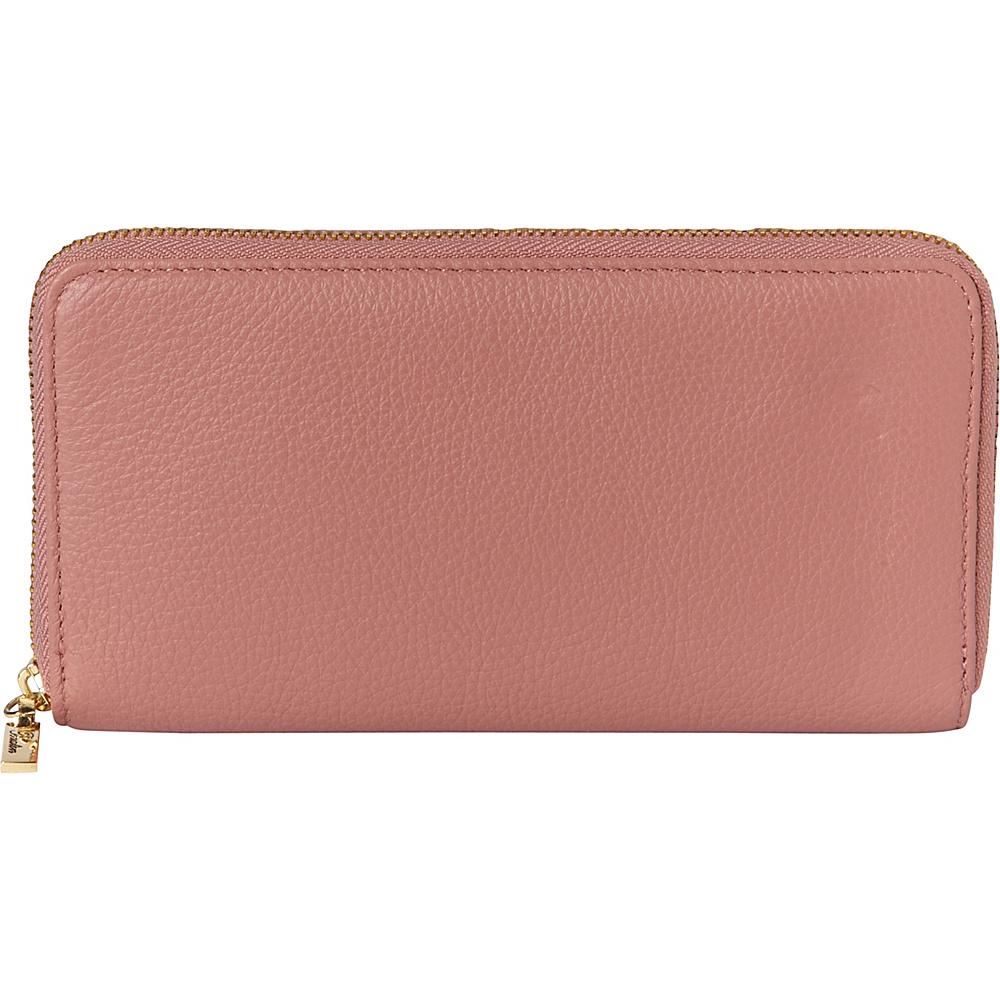 Buxton Florence Slim Single Zip Pink - Buxton Womens Wallets - Women's SLG, Women's Wallets