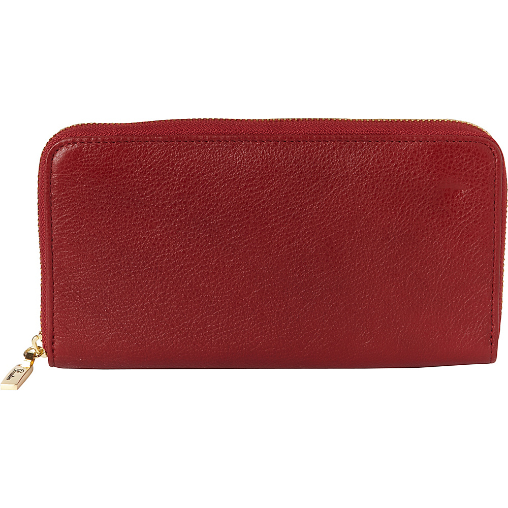 Buxton Florence Slim Single Zip Red - Buxton Womens Wallets - Women's SLG, Women's Wallets
