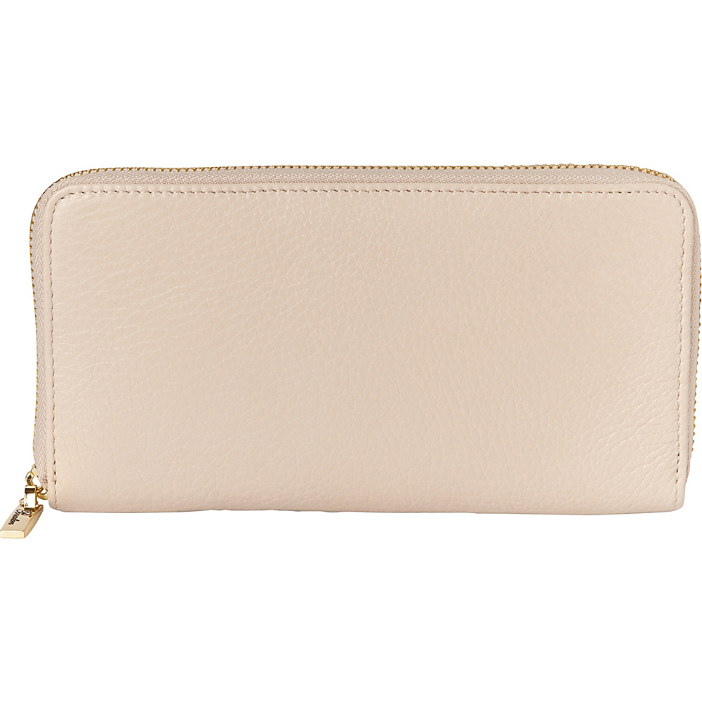 Buxton Florence Slim Single Zip White - Buxton Womens Wallets - Women's SLG, Women's Wallets
