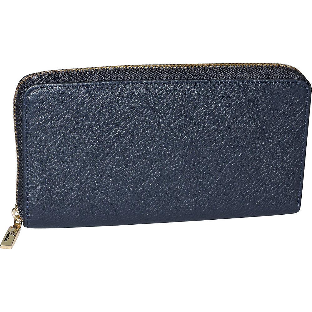 Buxton Florence Slim Single Zip Blue - Buxton Womens Wallets - Women's SLG, Women's Wallets